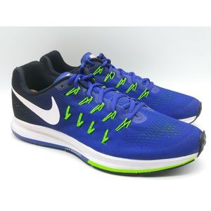 NIKE Mens Running Shoes Blue White Sneakers US 10